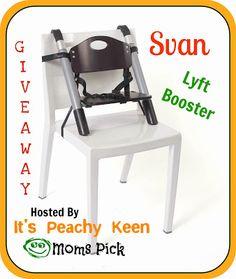 It's Peachy Keenhttp://www.itspeachykeen.com/2013/10/svan-lyft-booster-giveaway.html   AWESOME GIVEAWAY!