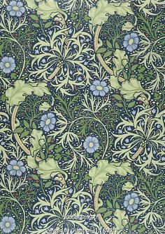 Seaweed wallpaper, by William Morris. England, late 19th century