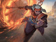 Ghitu Slinger - MTG by ClintCearley.deviantart.com on @DeviantArt