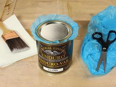 A Woodworker's Journal reader explains how to preserve woodworking finishing supplies with a plastic bag acting as a sealant under the lid.
