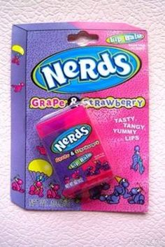 Nerds Grape & Strawberry Lip Balm really want Chapstick Lip Balm, Eos Lip Balm, Lip Balms, Strawberry Lip Balm, Gloss Labial, Candy Lips, Nice Lips, Chapped Lips, Cute Makeup