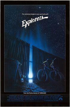 Explorers Orignal 1985 Movie Poster #joedante #gremlins #1980 #retro #movies