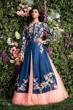 """Enchanted Forest"" by Shyamal and Bhumika (Spring/Summer 2016) #indianfashion"