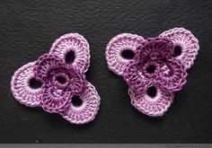Crochet pansies ♥️LCF-MRS♥️ with step by step picture instructions.