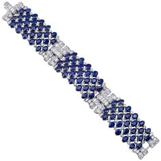 Van Cleef & Arpels - Sapphire and diamond panel bracelet.  For those times when you want to make a statement.