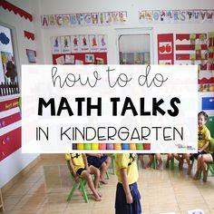 Kindergarten Math Wall, Number Talks Kindergarten, Preschool Math, Math Classroom, Teaching Math, Classroom Ideas, How To Do Math, Math Talk, Daily Math