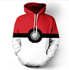 Pokemon Pokeball Catch Em All 3d hooded hoodie //Price: $24.00 & FREE Shipping //     #hashtag3