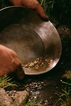 Panning for gold in Alaska. Yes, you can still find it!