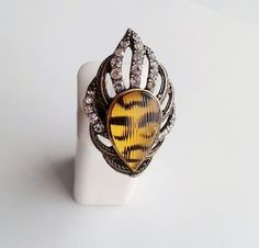 Golden Leopard Stretch Ring