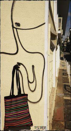Black Tote Bag Design : Neon Stripes Shirt Bag, Bag Design, Black Tote Bag, Reusable Tote Bags, Stripes, Neon, Spring, Shopping Bag Design, Neon Colors