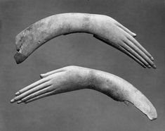 isgandar:  Pair of Ivory Clappers in Form of Human Hands Egypt, 1539 - 1190 BC (XVIII-XIX Dynasty, New Kingdom)