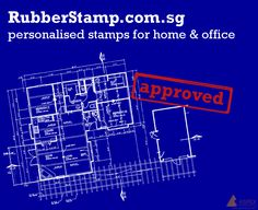 Rubber stamps is great for home & office use! 3 ink colors available! Red, Blue and Black! Get yours today! http://www.rubberstamp.com.sg/