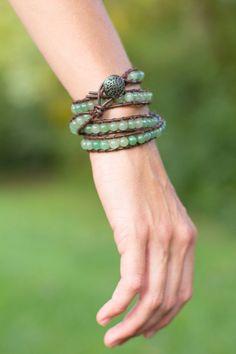 Chan Luu Inspired Wrap Bracelet by laceandthreads on Etsy