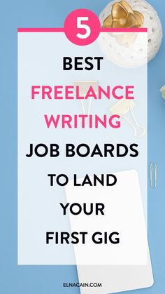 The 5 Best Freelance Writing Job Boards to Land Your First Gig. Find the best job boards for freelancers to land their first freelance writing job. Creative Writing Jobs, Online Writing Jobs, Freelance Writing Jobs, Make Money Writing, Online Jobs, Writing Tips, How To Make Money, Creative Jobs, Writing Resources