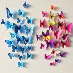 12 Pcs/Lot PVC Butterfly Decals 3D Wall Stickers Home Decor Poster for Kids Rooms Adhesive to Wall Decoration Adesivo De Parede  Price: 1.05 USD