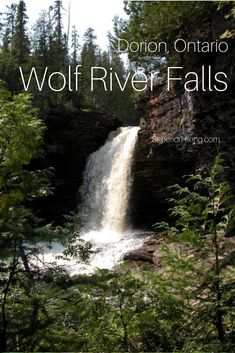 Northwestern Ontario has some really beautiful and remote waterfalls. The Wolf River Falls in Dorion Ontario are a little bit of an adventure but so worth the trip. Click through for trail details and directions. Hiking Checklist, Summer Hiking Outfit, Winter Hiking, River Walk, Men's Fitness, Winter Photography, Greatest Adventure, Hiking Trails, The Fresh