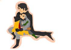 Batman II and Damian - brotherly loving