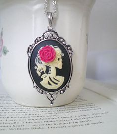 A Gothic Skull Cameo - great for Halloween! Too funny