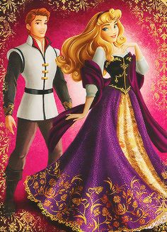 Disney Fairytale Designer collection Sleeping Beauty and Phillip.《-- I love the colors in her dress, but this feels redone to me. after they revamped all the princesses. Aurora Disney, Walt Disney, Disney Art, Disney Family, Images Disney, Disney Pictures, Princesse Aurora, Robes Disney, Lizzie Hearts