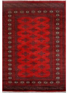 """Red Oriental Butterfly Rug 4' 1"""" x 5' 11"""" (ft) - No. 13075  http://alrug.com/red-oriental-butterfly-rug-4-1-x-5-11-ft-no-13075.html"""