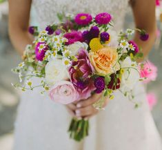 deep pink wildflower bouquet