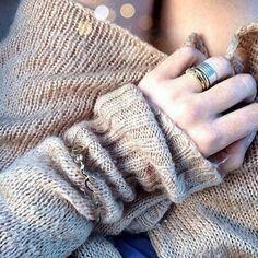 Cozy sweater+nice rings=cozy winter