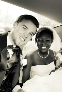 Why not smile when you just married the man of your dreams