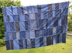 DIY Denim Rag Quilt
