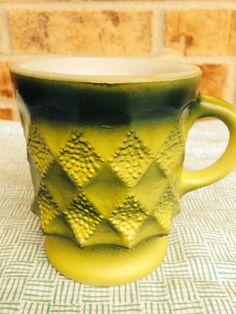 Awesome Two-toned Avocado Green Fire King-Anchor Hocking KIMBERLY Mug on Etsy, $5.95