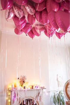 heart balloons for Valentine's Day {cute idea}