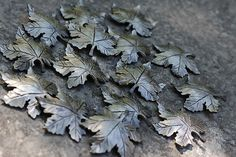 Forged and textured Maple Leaves Chris Spilak/ArtfullyCrooked