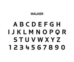 Walker  Matthew Carter (British, born 1937)    1995. Digital typeface, Variable. Gift of Carter & Cone Type, Inc.
