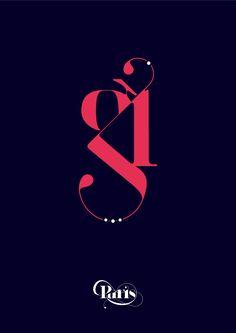 Paris font, by Moshik Nadav
