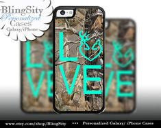 Camo Browning Buck Love iPhone 5C 6 Plus Case Doe Heart Deer iPhone 5s 4 case Ipod Cover real tree camo Country Inspired Girl by BlingSity