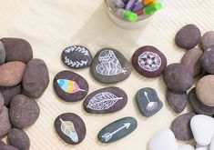 DIY hand painted rocks | Photos by Birds of a Feather | 100 Layer Cake