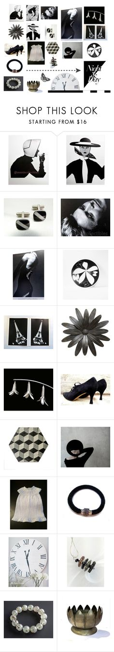 """""""night & day"""" by seasidecollectibles ❤ liked on Polyvore featuring Balenciaga, Norell, Mikasa, Saks Fifth Avenue, Perlina and vintage"""