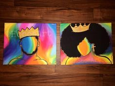 Based On Peter Two X Acrylic Paintings On Canvas For ~ basierend auf peter two x acrylbilder auf leinwand für Based On Peter Two X Acrylic Paintings On Canvas For ~ Afro Painting, Crown Painting, King Painting, Black Art Painting, Couple Painting, Black Artwork, Painting Of Girl, Couple Art, Cute Canvas Paintings
