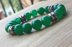 Prosperity, Green Aventurine Bracelet, Heart Chakra Stone, Energy Bracelet, Reiki Bracelet, Healing Crystal Bracelet, Reiki Jewelry, Yoga by TurquoiseHandcrafted on Etsy