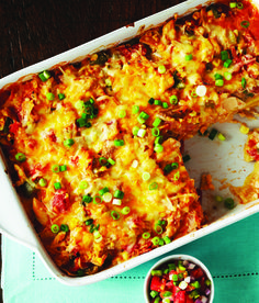 Chicken Tortilla Casserole - Clean Eating   Hmmm.....I have most of these ingredients on hand.....