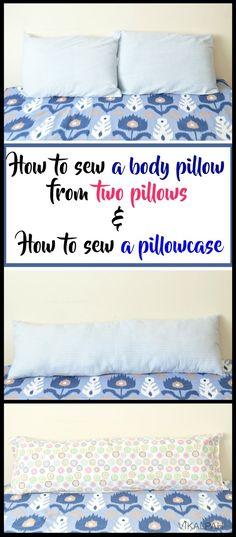How to sew a body pillow & pillowcase - tutorial by Vikalpah pillow art : . : How to sew a body pillow & pillowcase – tutorial by Vikalpah pillow art : How to sew a body pillow & pillowcase – tutorial by Vikalpah pillow art Body Pillow Pillowcase, Pillowcase Pattern, Pillowcase Tutorial, Sewing Pillows, Diy Pillows, How To Make Pillows, Decorative Pillows, Cushions, Throw Pillows
