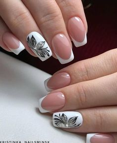 Square Nail Designs, Flower Nail Designs, Gel Nail Designs, Nails Design, Glue On Nails, Gel Nails, Acrylic Nails, Manicure, Cute Nails