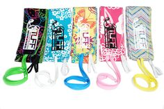 Summer Fun color wrist wraps. Unique thumb loop helps to aid in putting on your wraps and keeps them secure during training. We offer a 30 day money back guarantee on all of our wraps. Free Shipping. TuffWraps.com
