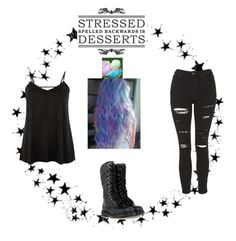 """""""Untitled #247"""" by kittiekait ❤ liked on Polyvore featuring Camp, Topshop, Dr. Martens and plus size clothing"""