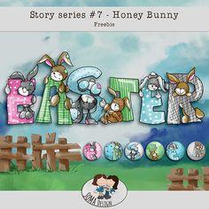 Guest Freebies – Page 24 Digital Scrapbooking Freebies, Honey Bunny, Clip Art, Easter, Board, Design, Easter Activities, Design Comics