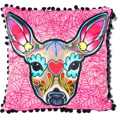 Sourpuss Clothing Deer Woodland Pillow ($9.54) ❤ liked on Polyvore