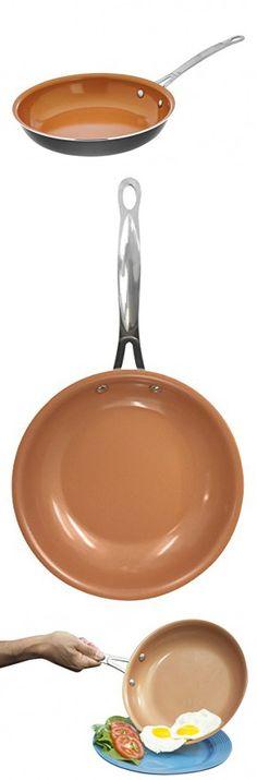 """Gotham Steel Ceramic and Titanium Nonstick Fry Pans, 11"""", Grey"""