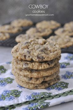 Cowboy Cookies - soft, chewy chocolate chip oatmeal cookie
