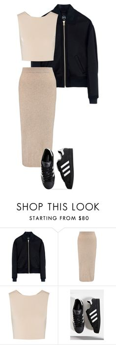 """""""4"""" by marcabaceira on Polyvore featuring McQ by Alexander McQueen, Iris & Ink, Alice + Olivia and adidas"""