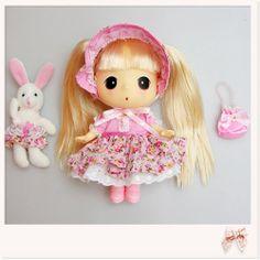 Korea DDUNG Doll  Romantic ddung with Rabbit Doll Kids Children Girl Gift