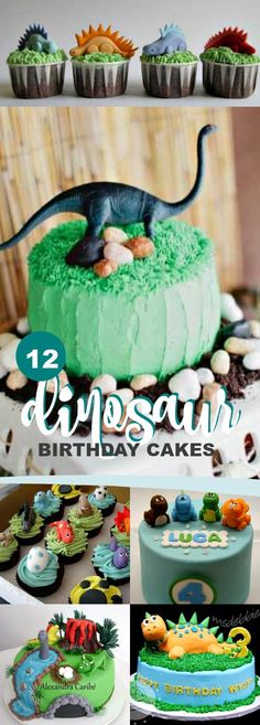 12 Dinosaur Birthday Cake Ideas We Love via @spaceshipslb